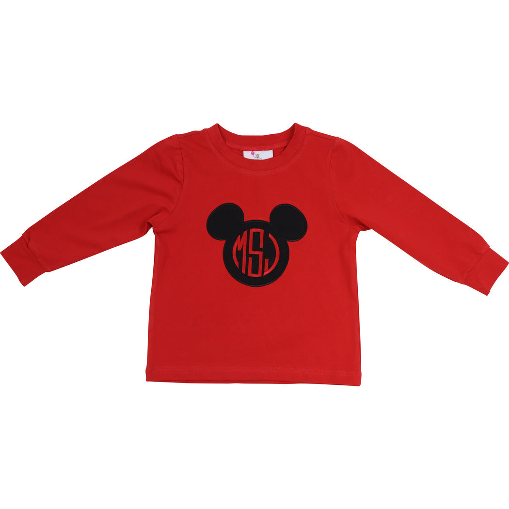 Red Knit Mouse Ears Shirt