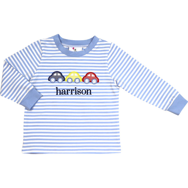 Blue Stripe Car Shirt
