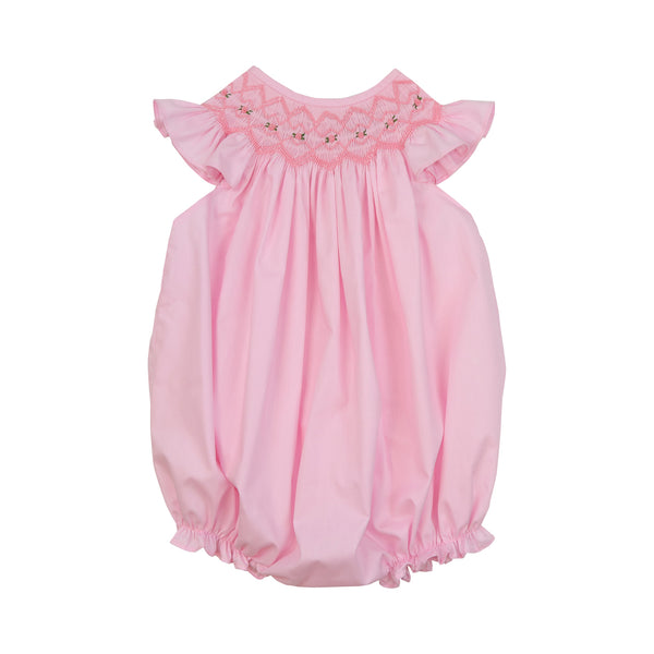 Pink Smocked Rosette Bubble