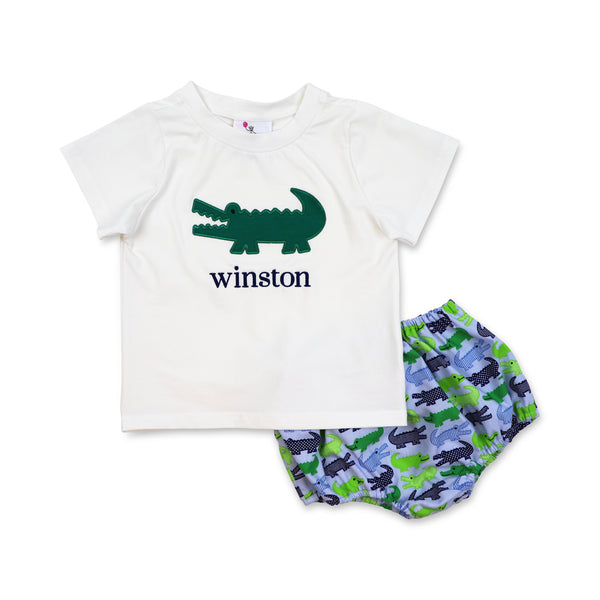 Alligator Diaper Set