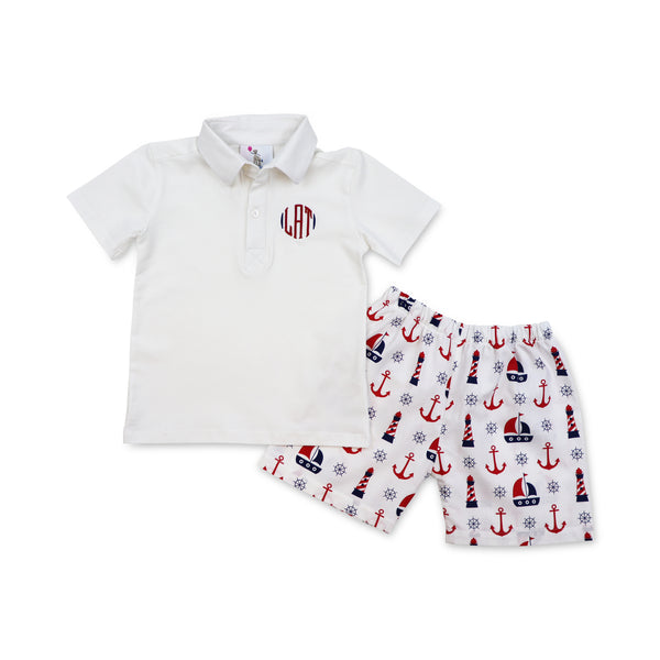 Sailboat Polo Set