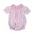 Pink Windowpane Smocked Bunny Bubble