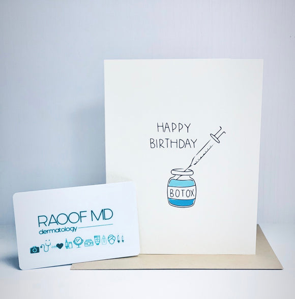 Happy Birthday Botox (greeting card)