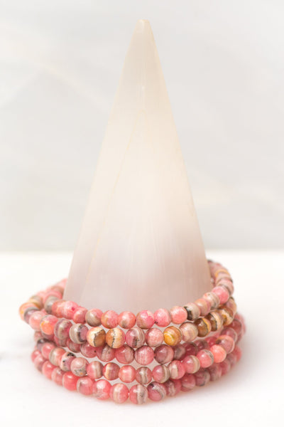 Dainty Rhodochrosite Bracelet - Sacred Light Soundbaths and Crystals