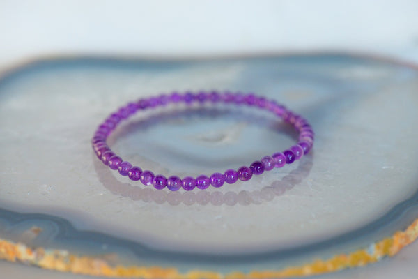 Amethyst Dainty Bracelet - Sacred Light Soundbaths and Crystals