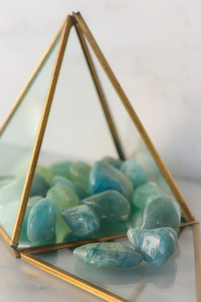 Tumbled Aquamarine - Sacred Light Soundbaths and Crystals