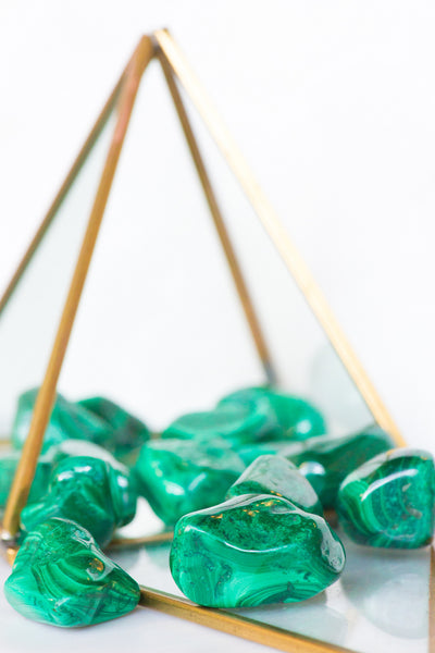 Tumbled Malachite - Sacred Light Soundbaths and Crystals