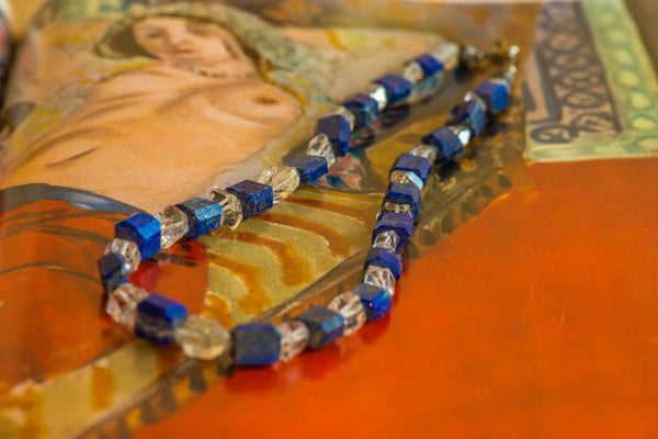 Herkimer & Lapis Lazuli Necklace - Sacred Light Soundbaths and Crystals