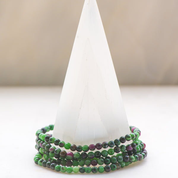 Ruby Zoisite Dainty Bracelet - Sacred Light Soundbaths and Crystals