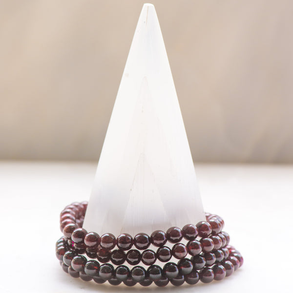 Almandine Garnet Medium Bracelet - Sacred Light Soundbaths and Crystals