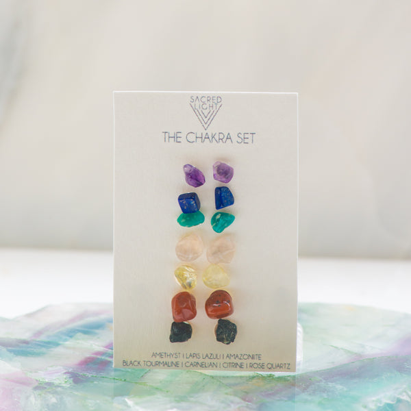 Chakra Alignment Earring Set - Sacred Light Soundbaths and Crystals