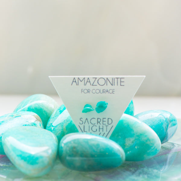 Amazonite Earrings - Sacred Light Soundbaths and Crystals