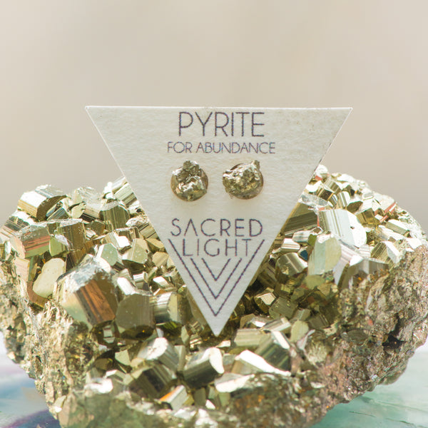 Pyrite Earrings - Sacred Light Soundbaths and Crystals