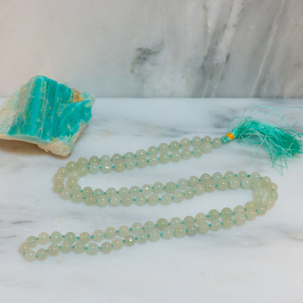 Green Aventurine Mala Necklace
