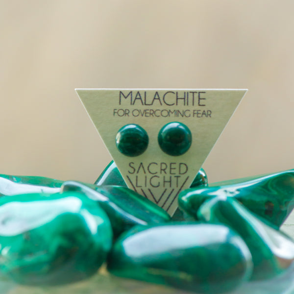 Malachite Earrings - Sacred Light Soundbaths and Crystals