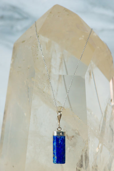 Sterling Silver Lapis Lazuli Necklace - Sacred Light Soundbaths and Crystals