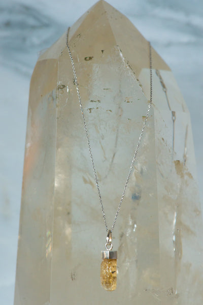 Sterling Silver Imperial Topaz Necklace - Sacred Light Soundbaths and Crystals