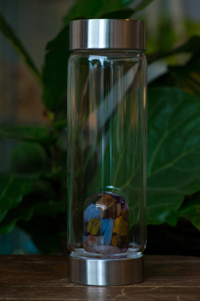 VitaJuwel Five Elements Crystal Infused Water Bottle - Sacred Light Soundbaths and Crystals