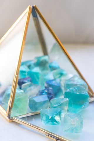 Natural Fluorite Octahedron - Sacred Light Soundbaths and Crystals