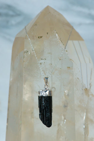 Natural Black Tourmaline Necklace - Sacred Light Soundbaths and Crystals