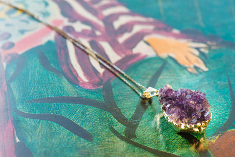 Sterling Silver Natural Amethyst Necklace - Sacred Light Soundbaths and Crystals