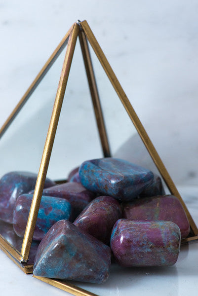 Tumbled Ruby and Blue Kyanite - Sacred Light Soundbaths and Crystals