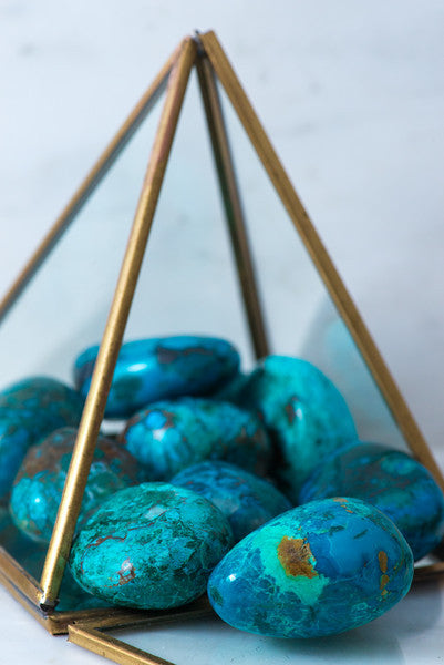 Tumbled Chrysocolla - Sacred Light Soundbaths and Crystals