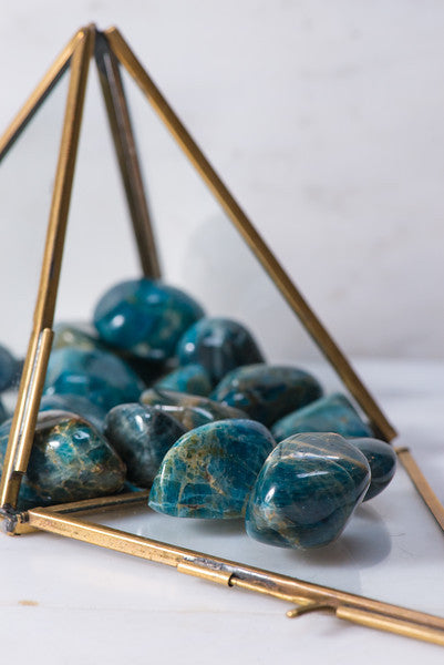 Tumbled Blue Apatite - Sacred Light Soundbaths and Crystals
