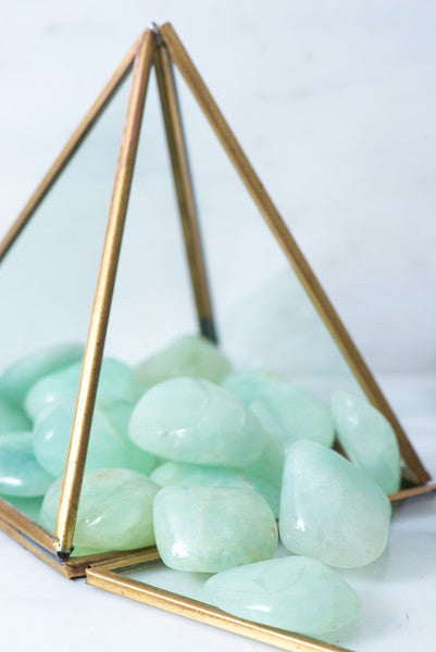 Tumbled Prehnite - Sacred Light Soundbaths and Crystals