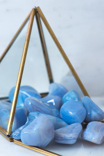 Tumbled Blue Lace Agate - Sacred Light Soundbaths and Crystals