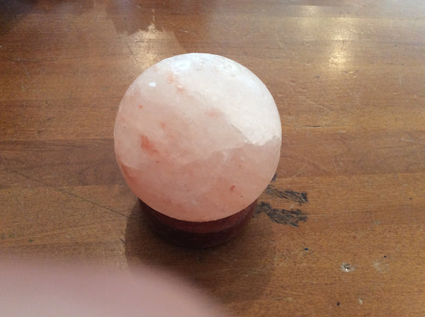 Himalayan Salt Sphere Lamp Mini - Sacred Light Soundbaths and Crystals