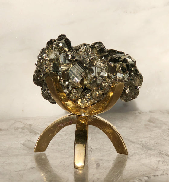 Pyrite with Brass Stand - Sacred Light Soundbaths and Crystals