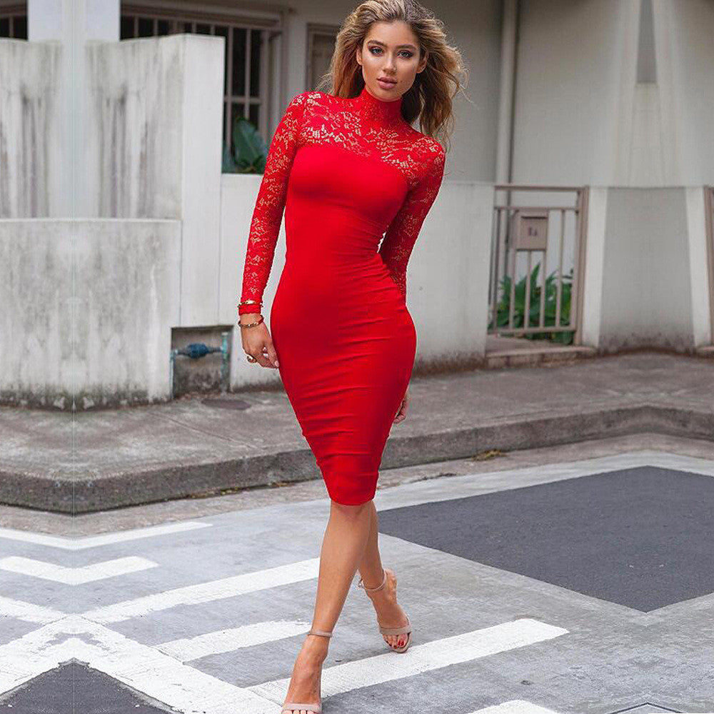 589ac79ce02 Red Want to Be Vintage Lace Dress – Fitness Fashion Fan