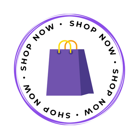 Shop Now button with purple shopping bag