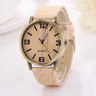 C1 2016 Wood Grain Funny Women watch Analog