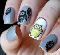 Nail Tatoo Owl N1