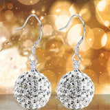 Earrings Ball Crystal
