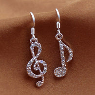 Drop Earrings Music Note