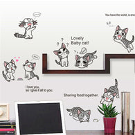 Cute Cartoon Cat Wall Sticker