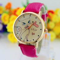 C5  Fashion Women Cat Watch
