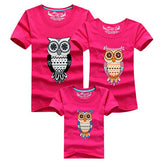 Family Printed T Shirts - Owl K