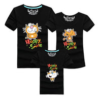 Family printed T Shirts Cat