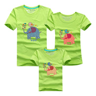 Family Printed T Shirts Elephant