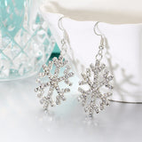Christmas gifts  snowflakes Crystal Drop earrings