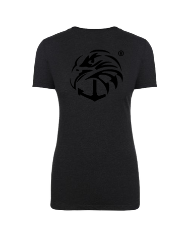 Ladies Tri-blend Crew - Vintage Black