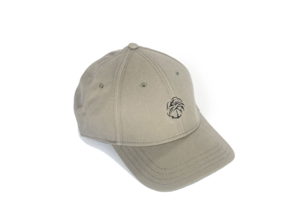 Olive Washed Twill Cap with Precurve Brim