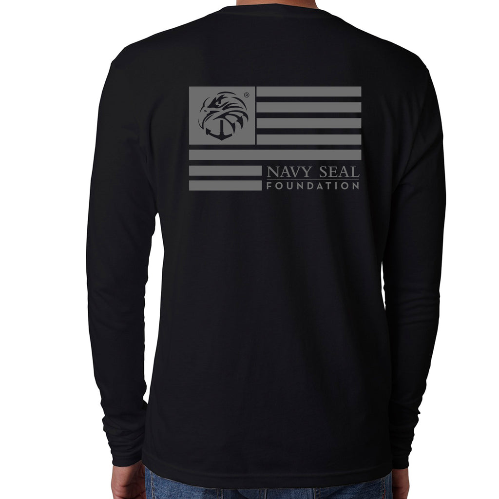 Mens Long Sleeve Crew Flag Design
