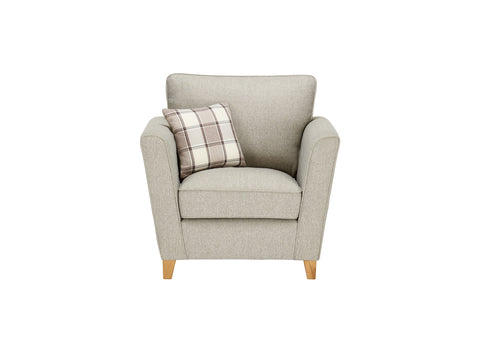 Ashleigh Armchair in Dash Linen with Alderney Check Scatter