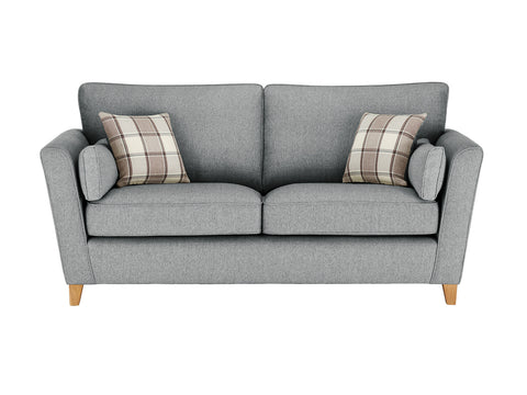Ashleigh Large Sofa in Dash Angora with Alderney Check Scatters