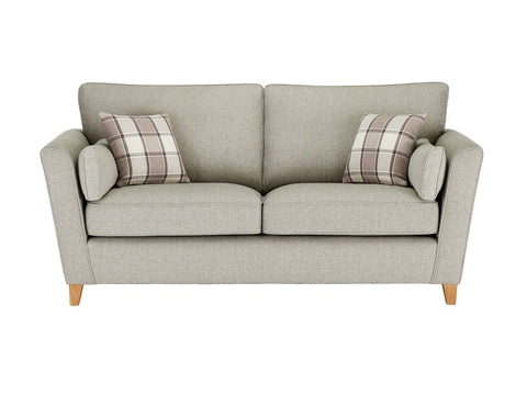 Ashleigh Large Sofa in Dash Linen with Alderney Check Scatters